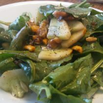 spinach lemon salad